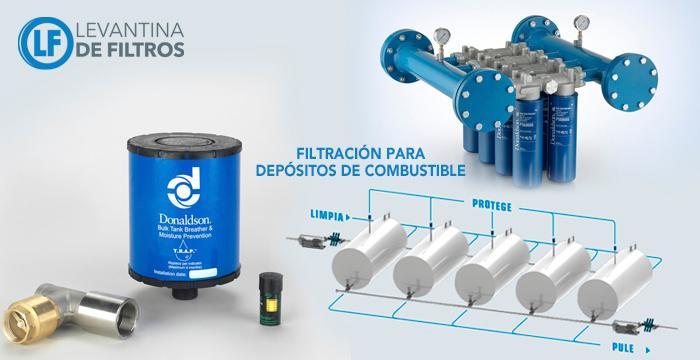 Filtros Donaldson para depósitos de combustible