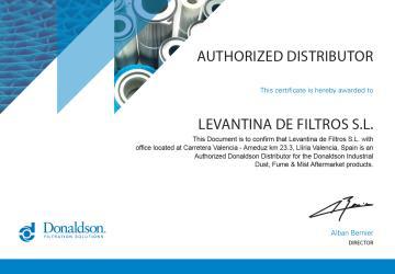 La División IAF Donaldson y Levantina de Filtros oficializan su relación comercial